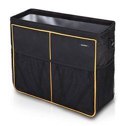 INTEY Car Seat Back Organizer, Car Boot Bag, Storage Bag with Sturdy Base and Velcro Fastening F ...