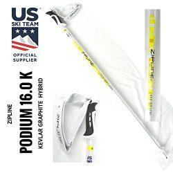 "Ski Poles – Zipline Kevlar Graphite Hybrid Composite ""Podium 16.0 K"" U.S. Ski  ..."