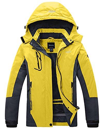 3a3ac798371 Wantdo Women s Mountain Waterproof Fleece Ski Jacket Windproof Rain Jacket  US M Yellow