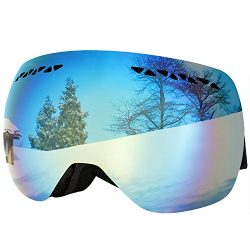 Supertrip Professional Ski Goggles for Men and Women Double Lens Anti-fog Big Spherical Skiing U ...