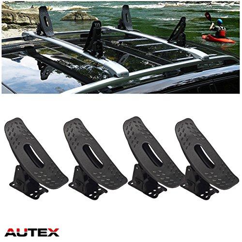 AUTEX Multi-Pivot Universal Roof Top Mounted Cradle Canoe Boat Surf Ski Kayak Carrier Roof Rack  ...