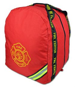 Lightning X Deluxe Fireman Firefighter Boot-Style Turnout Step In Bunker Gear Bag – RED