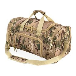 WolfWarriorX Military Tactical Duffle Bag, Large Storage Bag Luggage Duffle for Traveling, Gym,  ...