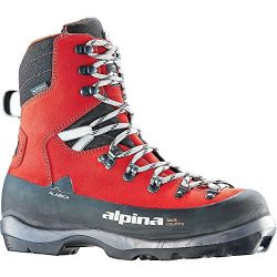 Alpina Sports Alaska Leather Backcountry Cross Country Nordic Ski Boots, Red, Euro 43