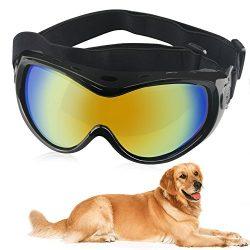 Dog Goggles Dog Sunglasses Pet Glasses Ski Goggles Big Dogs Eye Wear UV Protection with Adjustab ...