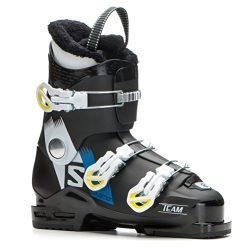 Salomon Team T3 Ski Boots Boys' Black/White/Acid Green 23.5