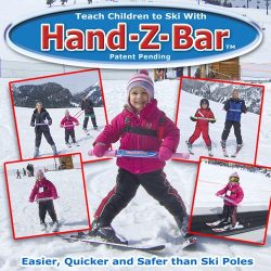 HAND-Z-BAR Kids Downhill Ski Trainer to Learn/Teach Beginner Alpine Skiing