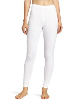 Duofold Women's Mid Weight Wicking Thermal Leggings, White, Small