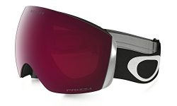 Oakley Flight Deck Ski Goggles, Matte Black/Prizm Rose