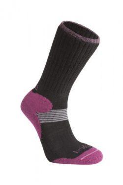 Bridgedale Women's Cross Country Ski Socks, Black, Medium