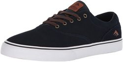 Emerica Provost Slim Vulc Skate Shoe,Navy/White/Gum,9 Medium US