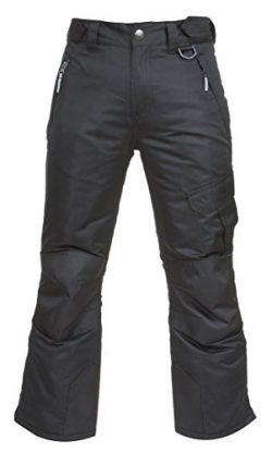Arctic Quest Childrens Water Resistant Ski Snow Pant Black 10/12