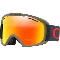 Oakley O-Frame 2.0 XL Snow Goggles, Canteen Iron Frame, Fire Iridium Lens, Large