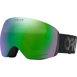Oakley Men's Flight Deck Snow Goggles, Pilot Black, Prizm Jade Iridium, Large