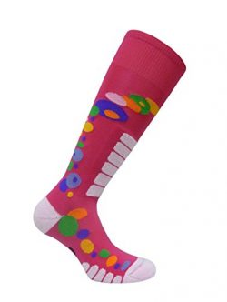 Eurosocks Women's Free Style Silver Socks, Fuchsia, Medium