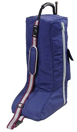 Derby Originals Padded 3 Layers English Tall Boots Carry Bags, Navy