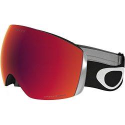 Oakley OO7050-33 Men's Flight Deck Snow Goggles, Black, Prizm Torch Iridium, Large