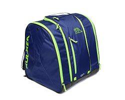 KULKEA Speed Pack Ski Boot Bag, SMOKE BLUE/ GREEN