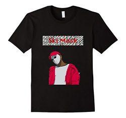 Men's Ski Mask logo style shirt XL Black