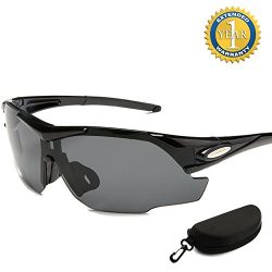 Cycling Glasses Sports Sunglasses for Women Men with 2 Interchangeable Lenses Motorcycle Glasses ...
