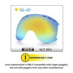 Jogoo Ski Goggles For Snowboard and Snowmobile,Interchangeable Lens and Magnetic Detachable Foam ...