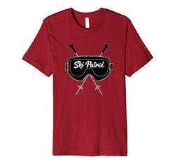 Mens Ski Patrol Goggles And Poles T-Shirt 2XL Cranberry