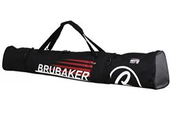 BRUBAKER Padded Ski Bag Skibag CARVER CHAMPION 190 cm / 74 3/4″ Black Red