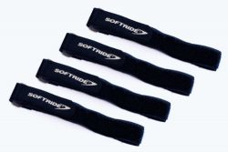 Softride SoftWraps, All Purpose Hook and Loop Tie Down Cinch Straps, Black, 16×1-inch, 4-Pa ...