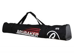 BRUBAKER Padded Ski Bag Skibag CARVER CHAMPION 170 cm / 66 7/8″ Black Red