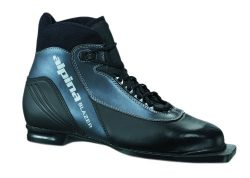 Alpina Blazer Cross-Country Nordic Ski Boots with 3-Pin Soles, Black/Anthracite , 43