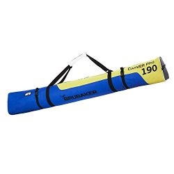 BRUBAKER Padded Ski Bag Skibag Carver Pro 2.0 with strong 2-Way Zip and Compression Straps &#821 ...