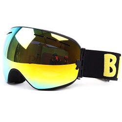 Ski Snowboard Goggles Windproof Anti-fog Dustproof Impact Resistance Adjustable Detachable Frame ...