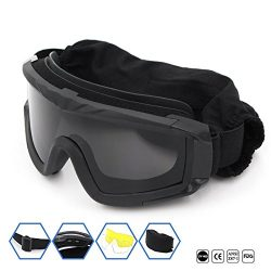 SPOSUNE Motorcycle Goggles for Men Women,Airsoft Goggles UV400 Protective Light Anti-Glare Detac ...