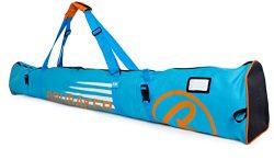 BRUBAKER Padded Ski Bag Skibag Carver Champion – Limited Edition – 190 cm / 74 3/4&# ...