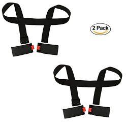NKTM 2 Packs Portable Double Ski Carrier with Two Velcros for Skiing Enthusiasts Ski Essential E ...