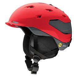 Smith Optics Quantum Adult Mips Ski Snowmobile Helmet – Matte Fire Charcoal / Medium