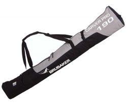 BRUBAKER Padded Ski Bag Skibag Carver Pro 2.0 with strong 2-Way Zip and Compression Straps ̵ ...