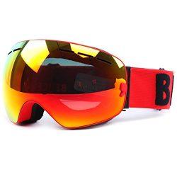 Ski Snowboard Goggles OTG Windproof Anti-fog Dustproof Impact Resistance Adjustable Detachable F ...