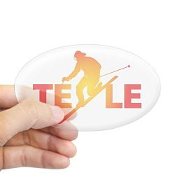 CafePress – TELE Vivid Sticker (Oval) – Oval Bumper Sticker, Euro Oval Car Decal