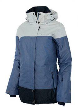 Columbia Women's Snowshoe Mountain Omni Heat Waterproof Hooded Ski Jacket (S, Bluebell)
