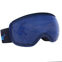 Unigear OTG Ski Goggles, Over Glasses Snowboard Snow Spherical Anti-fog Goggles for Men & Wo ...