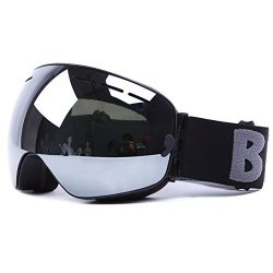 Ski Snowboard Goggles OTG Windproof Anti-fog Dustproof Impact Resistance Adjustable Detachable F ...