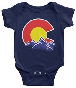 Threadrock Baby Colorado Mountain Infant Bodysuit 6 Months Navy
