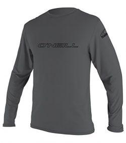 O'Neill Men's Basic Skins UPF 50+ Long Sleeve Sun Shirt,Smoke,XX-Large