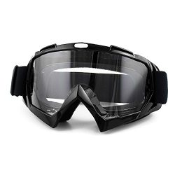 Surpassme Motorcycle Goggles, Sports Outdoor Clear Lenses Goggles Glass Eye Wear with Anti UV Sa ...