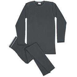 Rocky Men's Thermal Fleece Lined Long John Underwear 2pc Set (Xlarge, Charcoal)