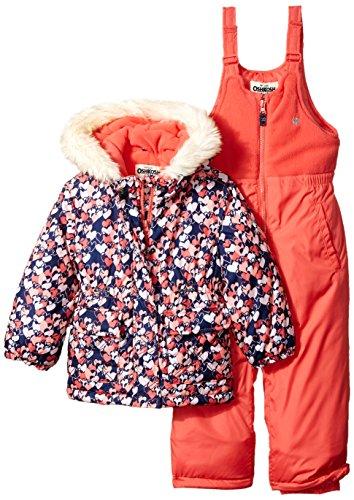 Osh Kosh Little Girl's Pink Girls Hw Snowsuit B2179s15 Outerwear, Pink, 6X