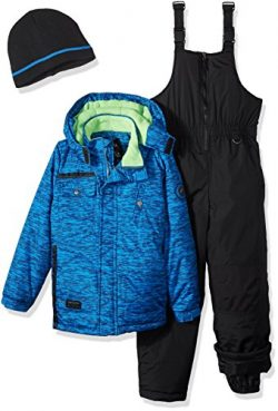 iXtreme Toddler Boys' Tonal Print Snowsuit W/Gaiter, Blue, 2T