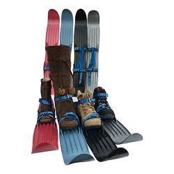 TEAM MAGNUS Kids Skis w/Quality Buckled Straps – 65cm Plastic Mini Snow Skis to Build Cros ...