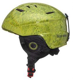 Lucky Bums Toddler Kids Alpine Doodlebug Ski Snowboard Sport Helmet, Green, M/L
